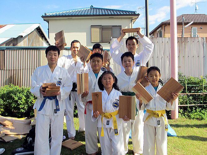 なかま秋祭り2012 テコンドー演武