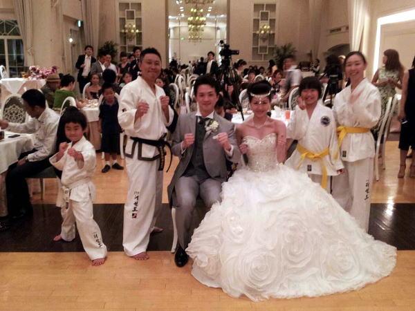 中目黒道場 若山剛士さん 結婚披露宴 テコンドー演武