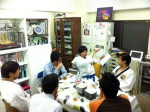 首都大学東京 テコンドー部主将、部員が荒川道場稽古に参加