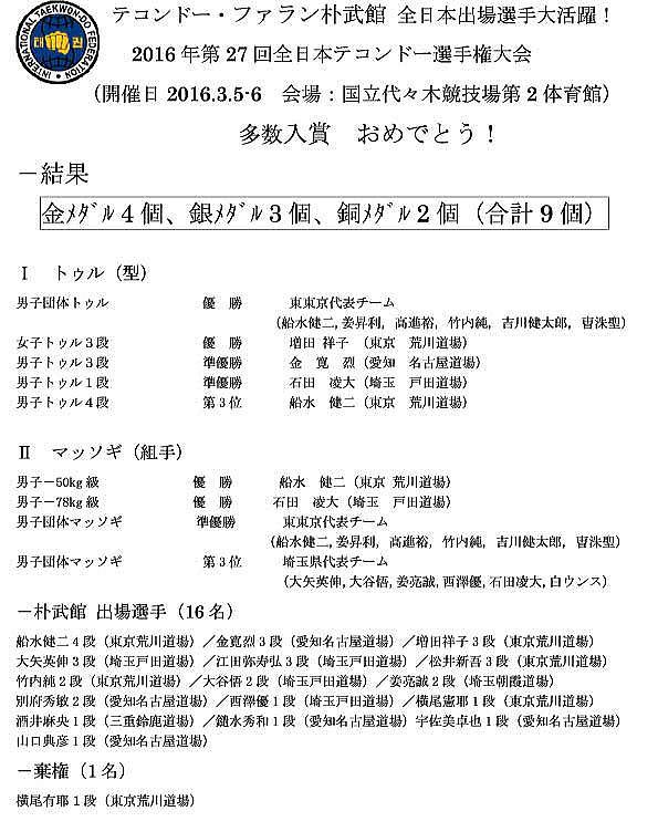 荒川道場 全日本大会 祝勝会