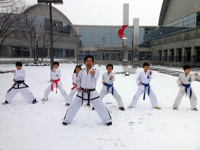 テコンドー寒中稽古 北本道場、戸田道場