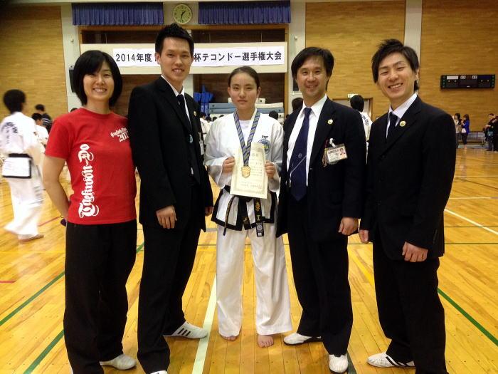 荒川道場 北川真子選手、2014ASCクラブ杯テコンドー大会敢闘賞受賞!
