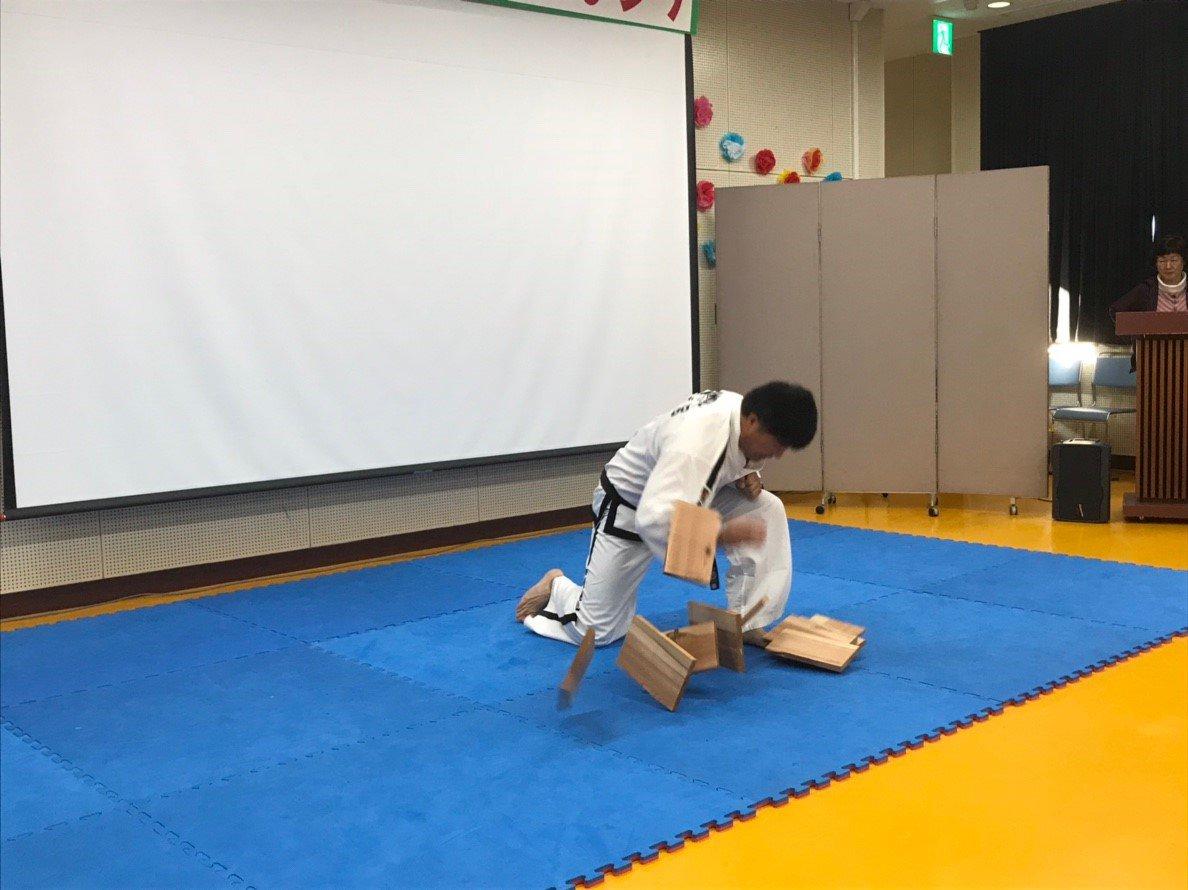 舎人ふれあい祭り テコンドー演武2018